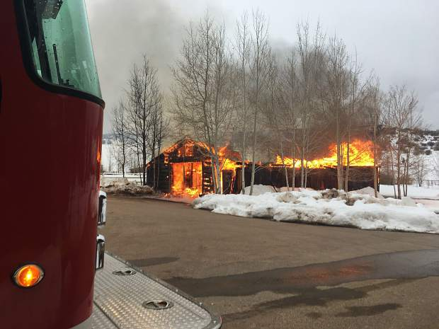 Cattle Creek barn lost in fire Thurs