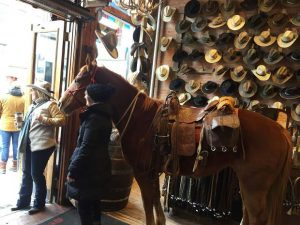 Giddy up: Horse parking in downtown Aspen galloping along