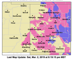 Winter storm warning extended into Monday for Aspen area, NWS says