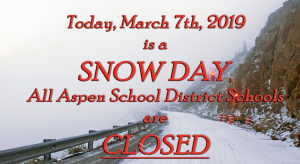 Aspen schools closed Thursday after overnight snowstorm