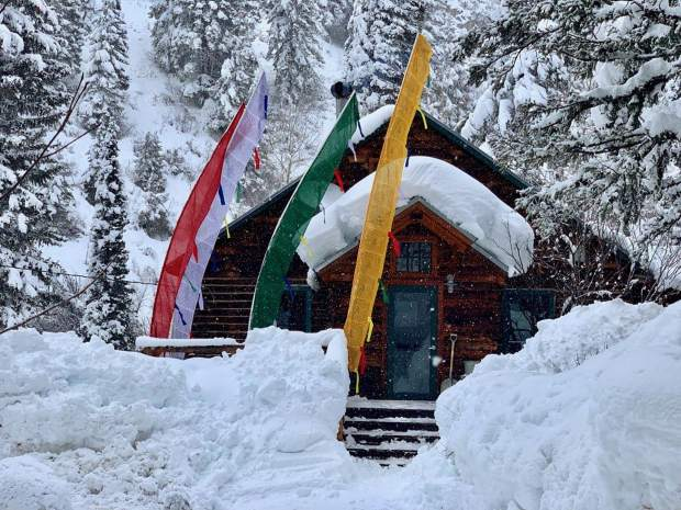Annie Teague's mountain cabin up Lenado, where she lived since 1974 and died peacefully on March 9.