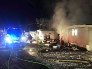 Fire destroys Basalt mobile home but firefighters prevent spread in Homestead neighborhood