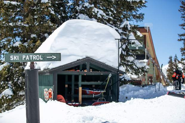 The ski ptrol hut at Aspen Highlands was situated at the top of the Loge Lift to be welcoming to the public. Patrol Director Mac Smith wants the public to come in and receive guide-quality service.