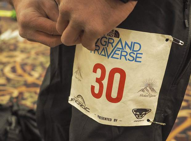 The names of Owen Green of Aspen and Michael Goerne of Carbondale were printed on the bibs of racers participating in the Grand Traverse ski race between Crested Butte and Aspen. Green and Goerne were killed in an avalanche on Death Pass in February while training for the 40-mile race.