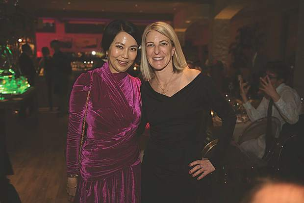 Artist Anicka Yi with AAM CEO and Director Heidi Zuckerman at 7908. MarySue Bonetti photo.