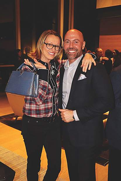 Patty Findlay with Thomas Haupt with Louis Vuitton.