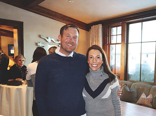 Jesse Bouchard and fiancée Kim Edwards at the Aspen Mountain Club.