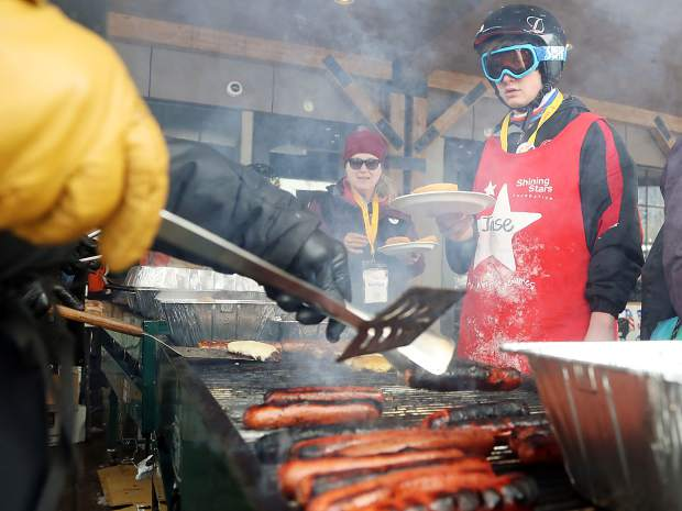 Shining Stars barbecue on Thursday, March 14, 2019, at Buttermilk Ski Area. The Shining Stars Foundation returned to Buttermilk Ski Area this week for its annual Aspen Winter Games event. The organization offers recreational and social programming for children across the country who are challenged with pediatric cancer or other life-threatening illness.