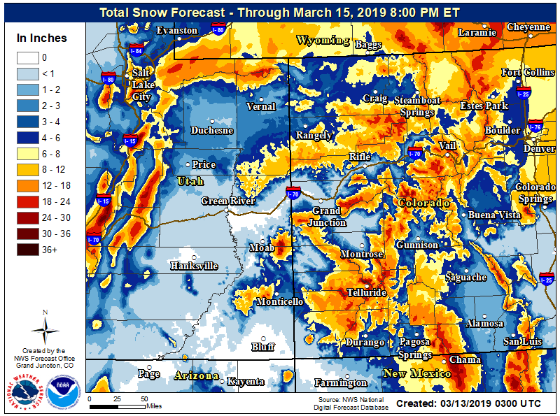 NWS warning: Aspen area could see another foot or more of snow by Thursday