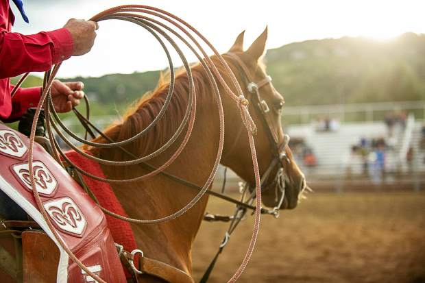 Matt Nieslanik's horse and lasso at the last Snowmass Rodeo of the summer on August 22.