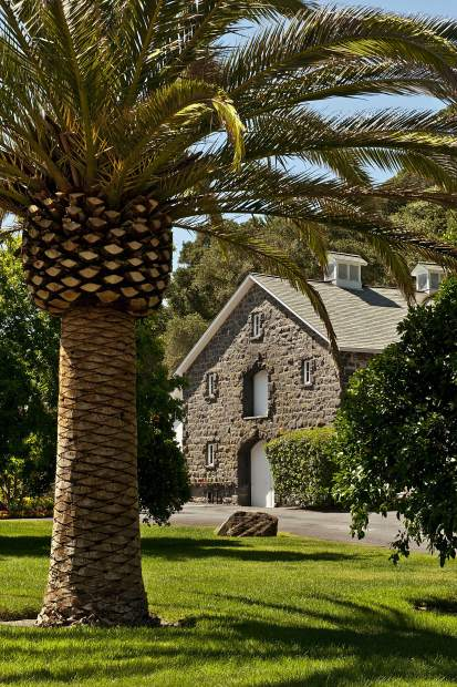 The old Heitz Cellar stone winery building on Howell Mountain above the Napa Valley was constructed in 1898.