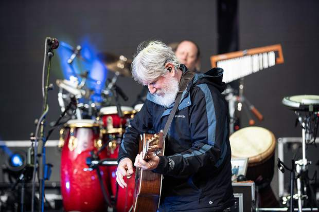 Bill Nershi of The String Cheese Incident jamming at The Apres Festival Saturday night at Buttermilk.