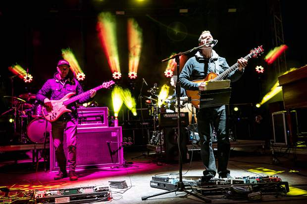 Umphrey's McGee playing at The Apres music festival at Buttermilk in 2019.