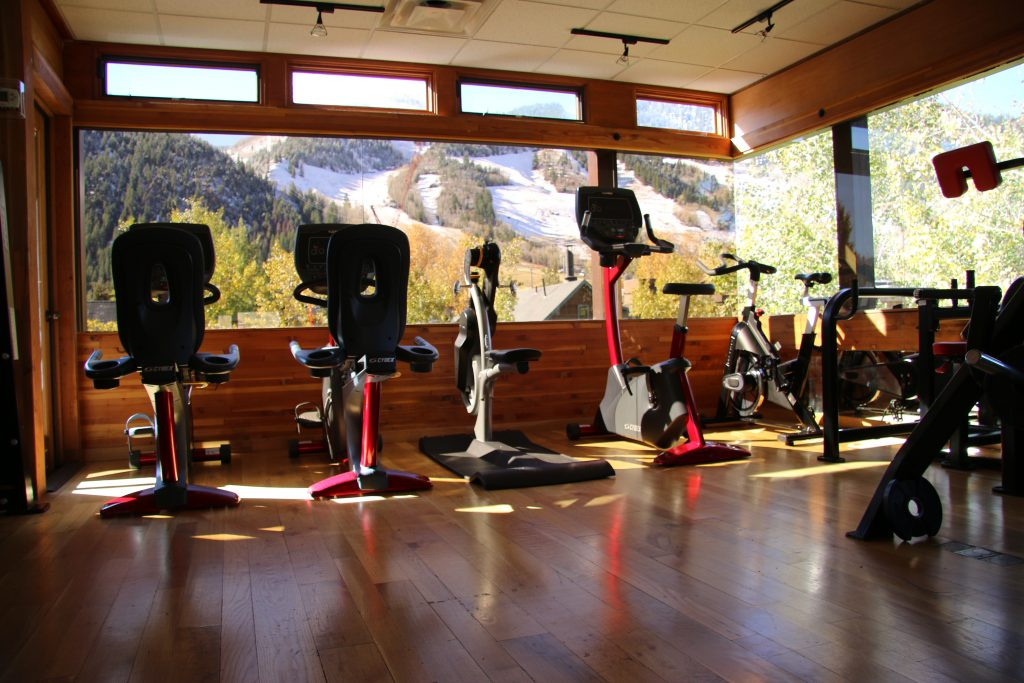 Jean-Robert's Gym in Aspen feature top-of-the-line equipment in a setting that features beautiful views of Aspen Mountain.