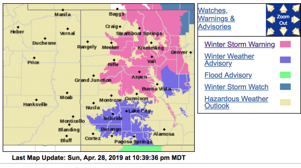 Winter storm warning issued for areas around Aspen, Snowmass above 8,500 feet