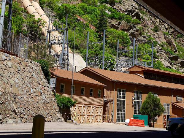 The Shoshone hydropower plant is tucked against a cliff next to Interstate 70 at mile marker 123, east of Glenwood Springs, on the Colorado River. The plant was totally offline for part of last week, but regional water managers honored the plant's senior water rights for 1,250 cubic feet per second of water during the outage.