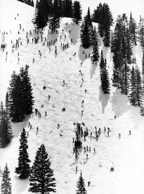 Skiers participate in the annual