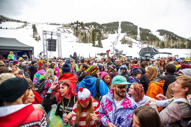 The Aspen Highlands closing day party at the base.