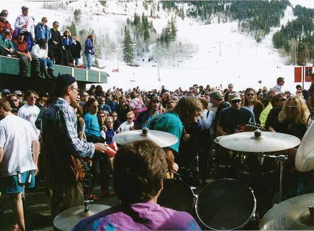 A legendary closing day rager at the at the base of Aspen Highlandson April 5, 1998. The bar's building was torn down the next day.