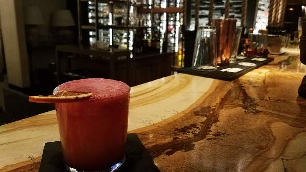 The Mercado is the most popular drink at Toro Kitchen and Bar in Snowmass Village. The bar, which is inside the Viceroy hotel, offers the jalapeno-infused tequila drink topped with hibiscus rosemary foam.