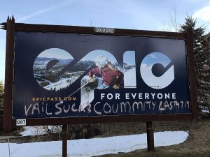 Vail Resorts billboard in Park City vandalized on closing weekend