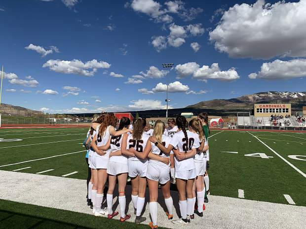 The Aspen High School girls soccer team played at Grand Valley on Tuesday, winning 10-0.