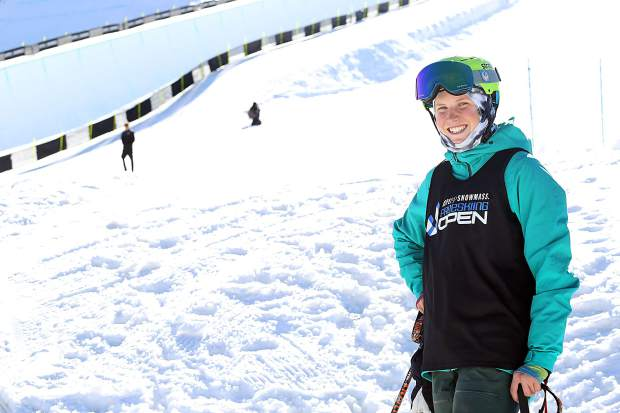 AVSC athlete Hanna Faulhaber poses prior to the Aspen Snowmass Freeskiing Open on Saturday, Feb. 16, 2019, at Buttermilk Ski Area. (Photo by Austin Colbert/The Aspen Times).