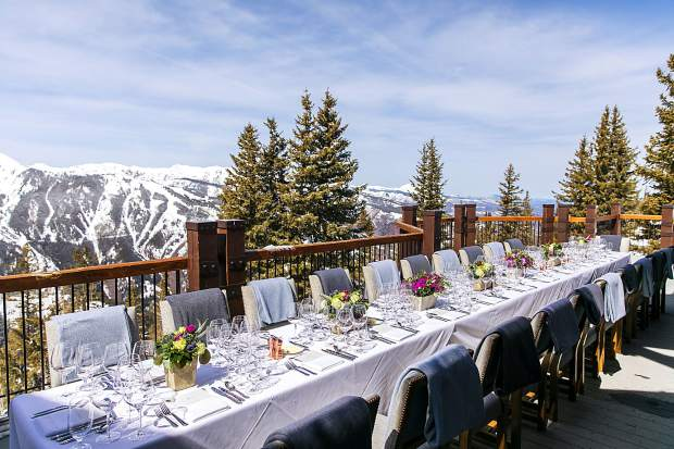 Of course much of the attraction for The Little Nell Wine Academy has to do with the extrordinary mountain top views from the Aspen Mountain Club which hosts the event.