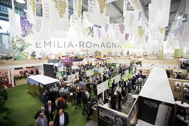 Emilia Romangna, a region in Northern Italy, presents its wines at the Vinitaly wine expo in Verona each year with an extravagant display.