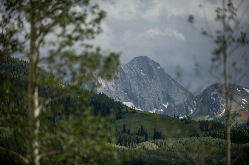 Capitol Peak near Aspen is one of Colorado's 14ers, which are mountains that are 14,000 feet or higher.