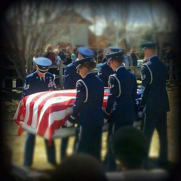 Military funeral in Carbondale for Nino Santiago, Sr. after his suicide death in March 2011.