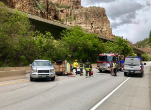 Horse injured in Glenwood Canyon crash that closed I-70
