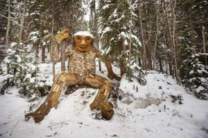 Breckenridge's trail troll reborn at heartstone-placing ceremony at new home