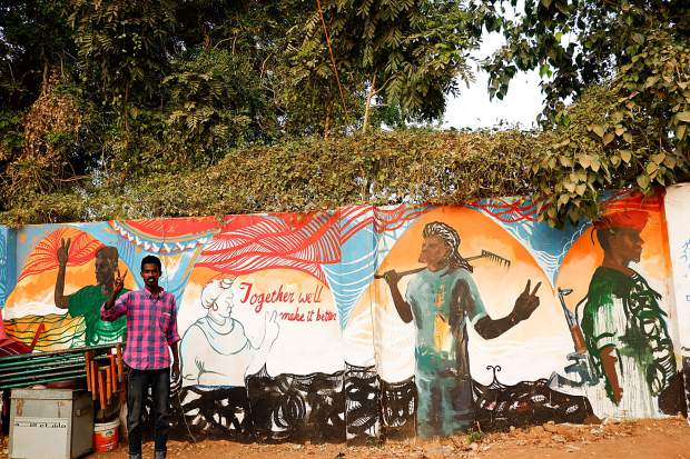 Art of protest and cautious celebration is flourishing in Khartoum, Sudan after the fall of President Omar al-Bashir's repressive administration.