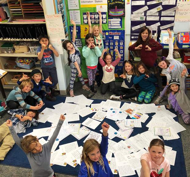 "Kindergartners through fourth graders at Aspen Elementary School recently launched a letter-writing campaign in support of Paradise Bakery not leaving its location. A pile of 145 letters was delivered last week to the office of Andy Hecht, one of the building's landlords. Second-grade teacher Amy Coye helped spearhead the effort. ""My intention was to empower students to take part in community response and feel some efficacy that their young voices were heard,"" she wrote in a letter to Hecht, adding that the students' ""writing reflects their memories of Paradise Bakery, some of their favorite treats from the bakery, and most notably their dislike of the high end fashion retail that seems to dominate out commercial core."""