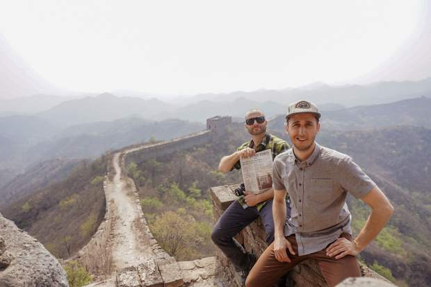 Kyle Franklin and Alex Hindman went to the Great Wall of China during the offseason and brought along The Aspen Times to stay current on local happenings. Email your