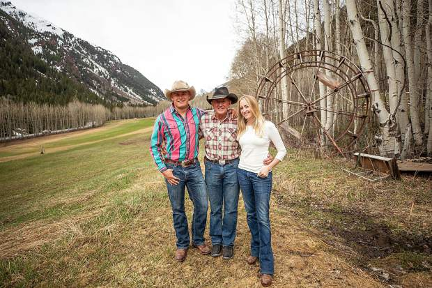 T-Lazy 7 Ranch owner Rick Deane and his children Jesse and Besha, right.