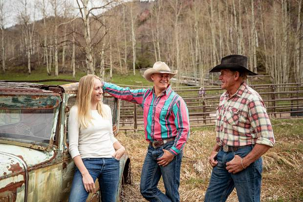 T-Lazy 7 Ranch owner Rick Deane and his children Jesse, center, and Besha.