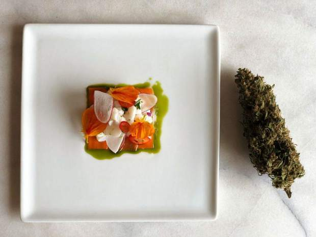 One of Chef Holden Jaggers creations at a recent Altered Plates event.