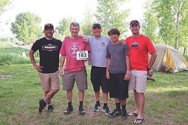 Team I Want My Two Dollars! members: Jimmy McManus, Dave Stephen, Mark Turbo Thurber, Logan Thurber and Mike Dunn.