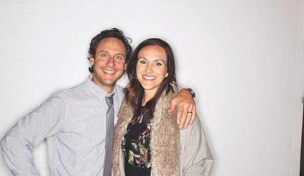Photo booth operator and devoted dad Ross Daniels and Samantha Daniels.