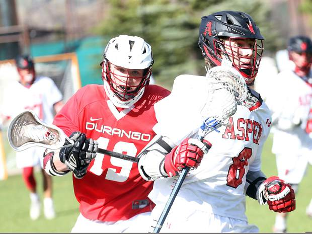 Aspen High School boys lacrosse against Durango on Friday, May 3, 2019, at Iselin Field. (Photo by Austin Colbert/The Aspen Times).