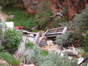 Mounting concerns over years worth of trash piled up in Red Canyon waterway from illegal dumping