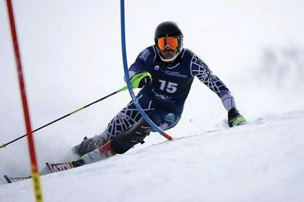 Sam Coffey skis in a slalom race at the NCAA Skiing Championship on March 8, 2013, in Middlebury, Vt. The then-senior at University of New Hampshire, who hails from Snowmass Village, placed third in the event.
