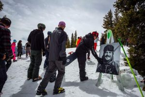 Hundreds gather atop Aspen Mountain to remember Sam Coffey and his larger-than-life character