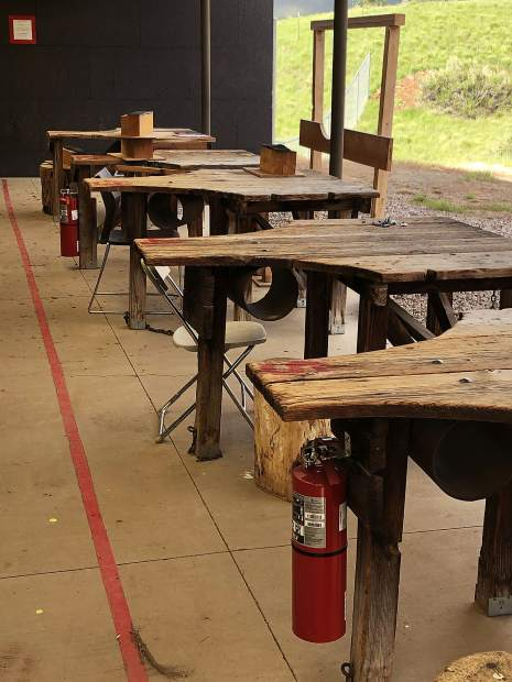 "Additional fire extinguishers have been installed at the rifle range shelter in Basalt since the Lake Christine Fire in July. ""The Basalt shooting range is closed on Tuesday and Thursdays to the general public while a citizens' task force works on recommendations for Colorado Parks and Wildlife's management of the facility. It is open seven days per week to special user groups."""