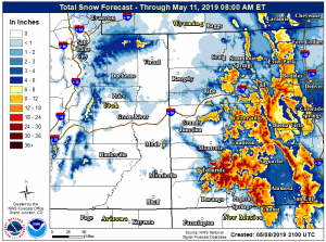 Soggy, snowy week with winter weather advisory for Aspen area; snow above 9,000 feet