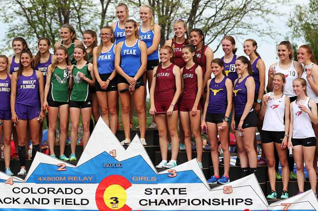 The Basalt High School girls 4x800-meter relay team took fifth in the finals and broke a school record in the event at the state track and field meet on Thursday, May 16, 2019, in Lakewood.