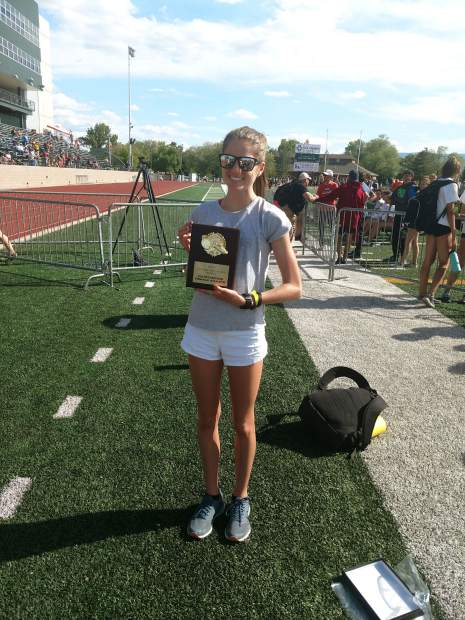 Basalt High School sophomore Sierra Bower was named the Outstanding Female Athlete at the 3A Western Slope League track and field championships over the weekend in Grand Junction. Bower broke the school record in both the mile and 2-mile races.