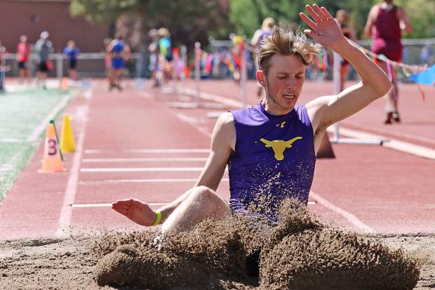 Basalt High School's Brady Lemke competes in the 3A Western Slope League track and field championships over the weekend in Grand Junction.